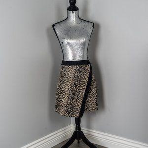 NWOT Plum clothing leopard faux wrap skirt
